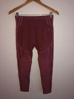 GYMSHARK Rust Colour Leggings Size L