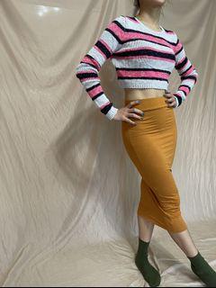 Hollister 條紋短版針織毛衣