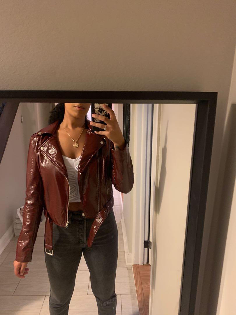 Leather vinyl jacket