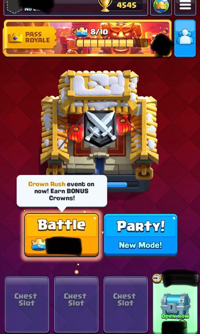 Lv 12 maxed deck Clash royale account connected to supercell id