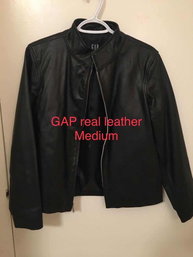 New GAP real leather jacket