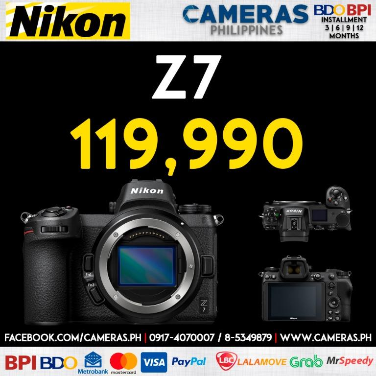 Nikon Z7 Mirrorless Camera Body    Credit Card   Installment   Cash   Cameras Philippines   https://cameras.ph