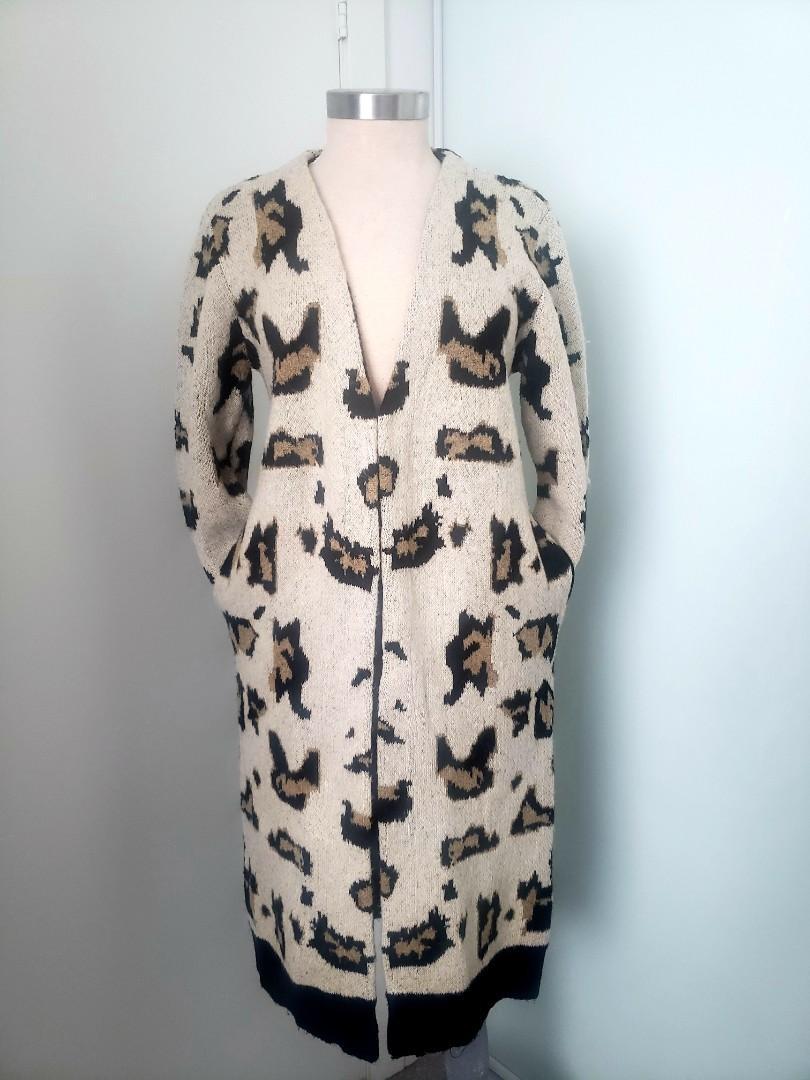 Suzy Shier Animal print Long cardigan