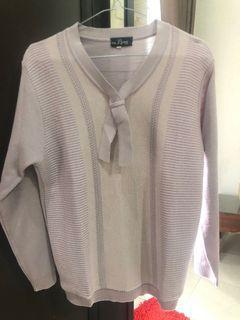 Sweater korea rajut knit lilac sweatshirt
