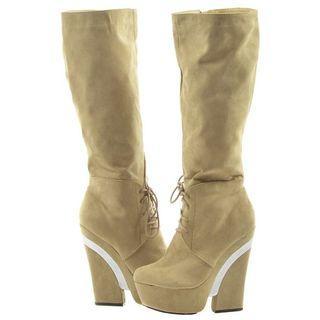 Tan Knee High Boots