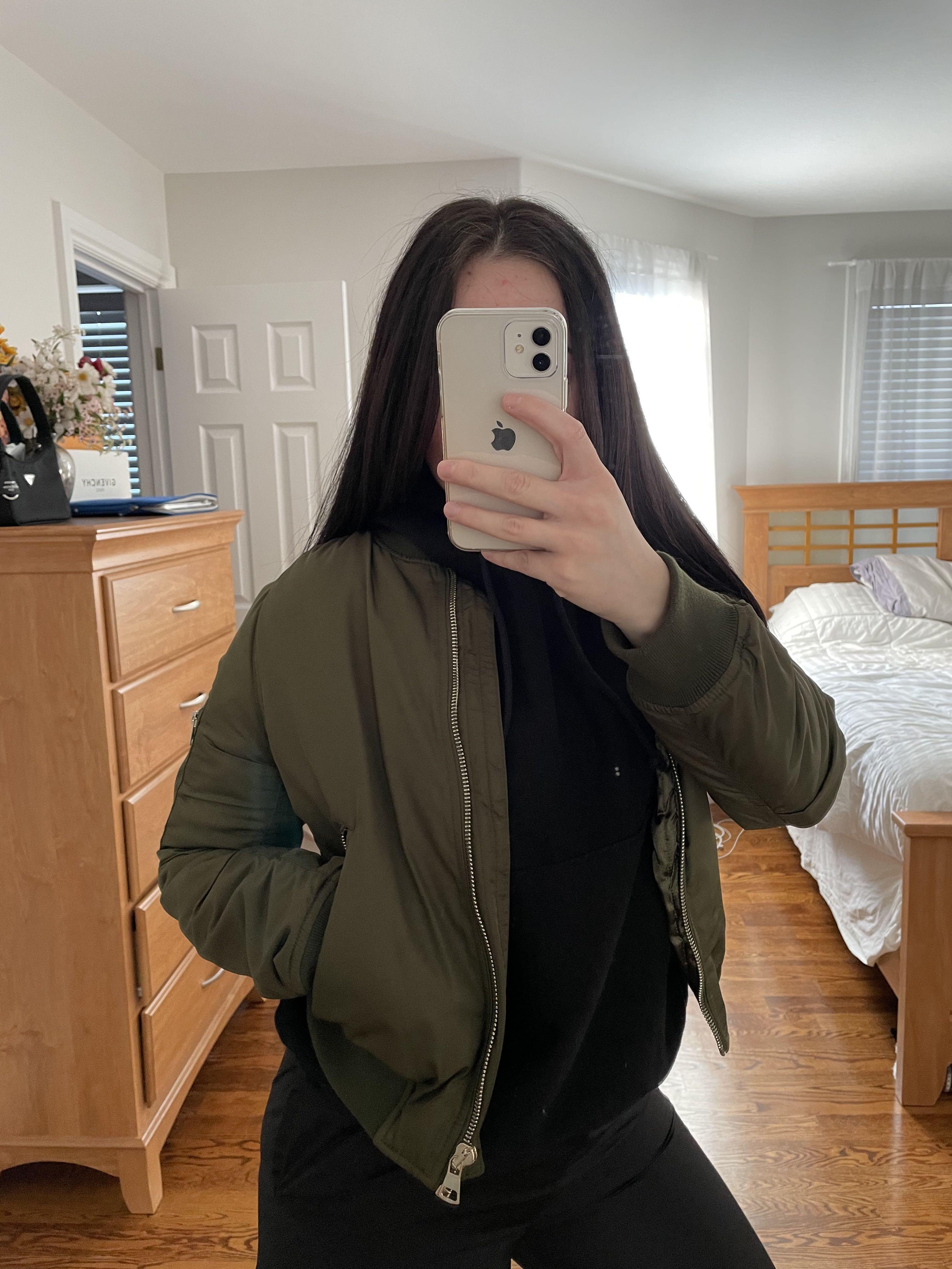 Topshop Army Green Bomber Jacket