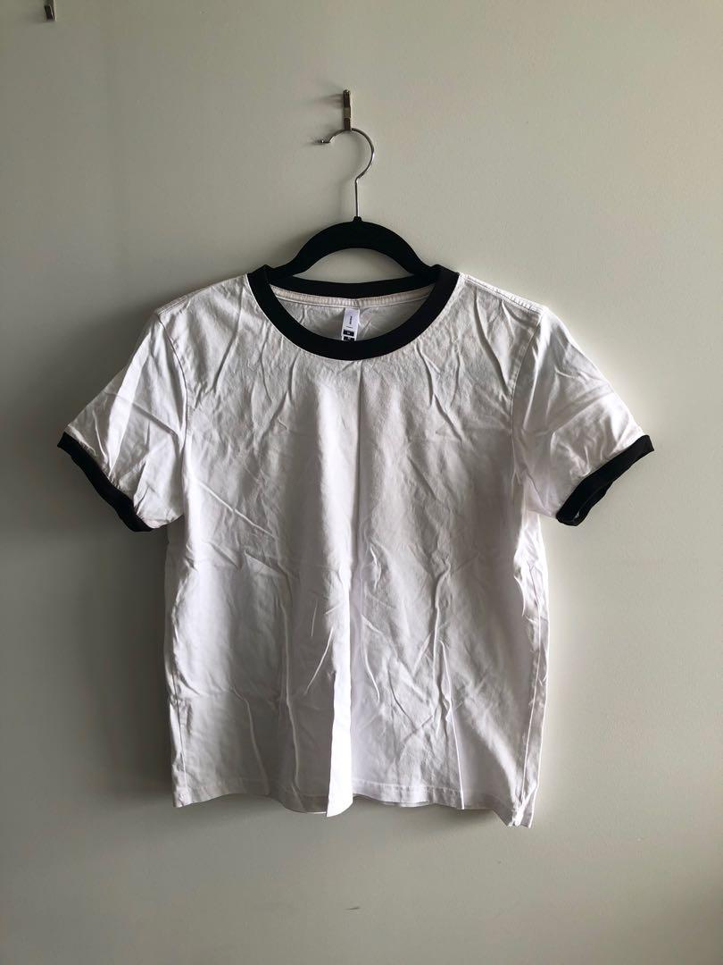 White AS Colour Tee with Black Detailing