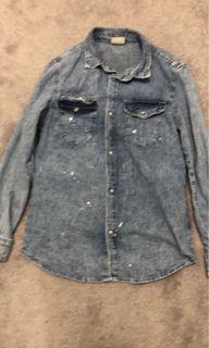 Zara Denim Button Up Shirt
