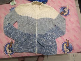 夢幻藍針織外套