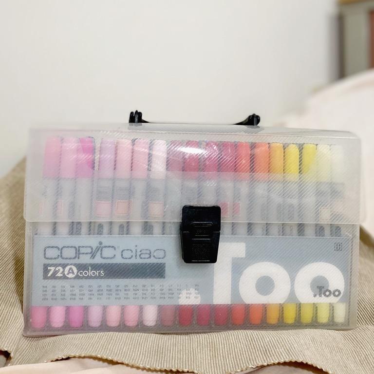 [現貨]二手 日本COPIC第三代Ciao麥克筆組/72色/附手提盒/酒精麥克筆/三分之一缺水