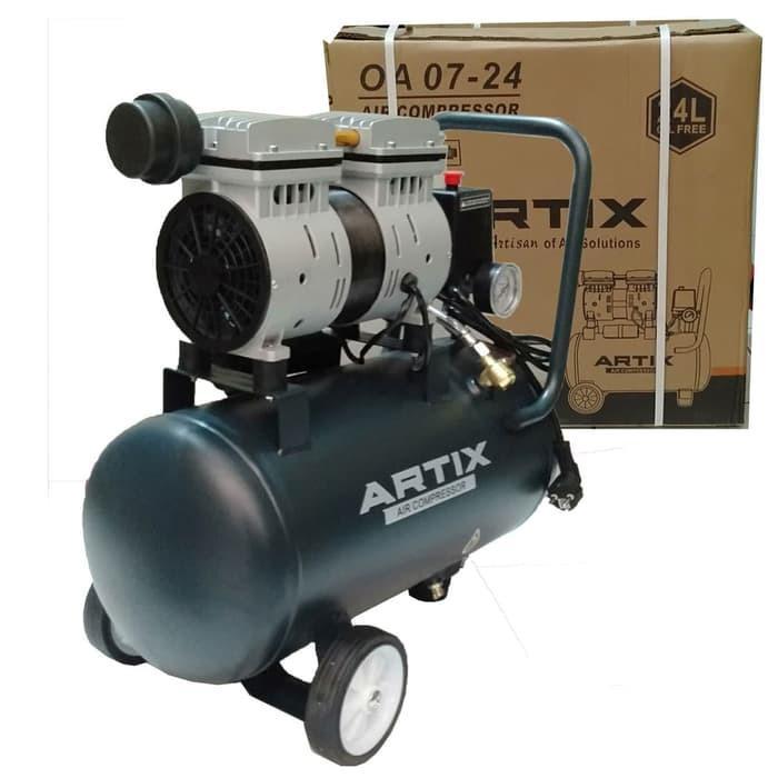 Artix OA 0724 OA0724 Kompressor Oilless Kompressor Silent 3/4 HP 24 L