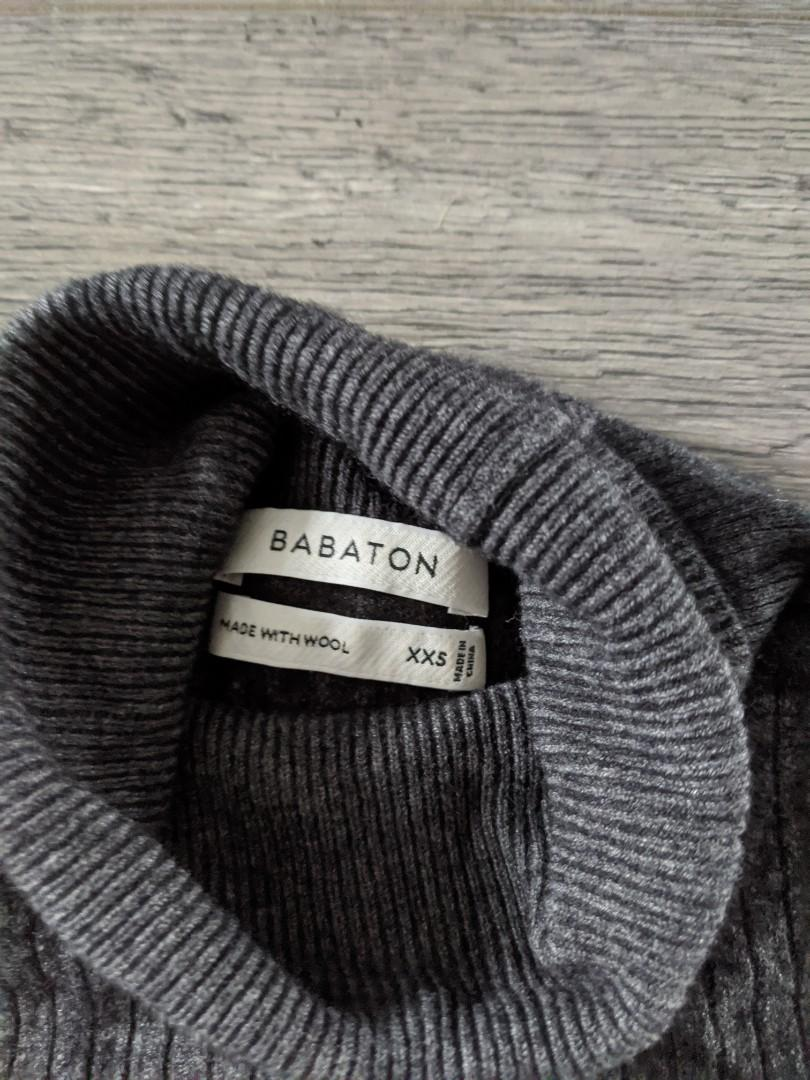 Babaton grey wool turtleneck