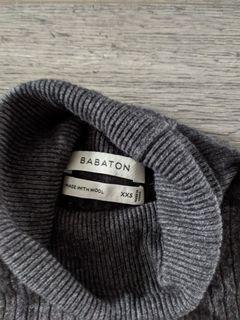 Babaton grey wool turtleneck