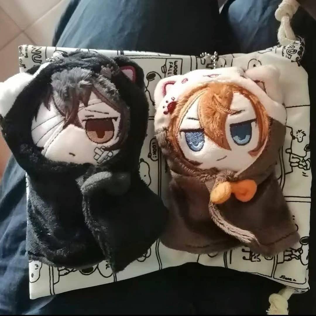 Chuuya and Dazai weather doll 10cm Keychain