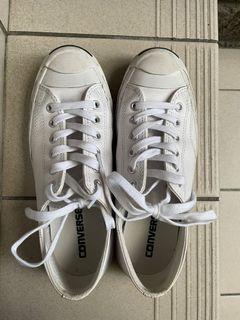 Converse 全皮開口笑白色