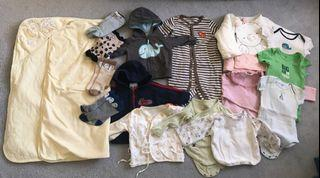 EUC baby clothing lots 3-6m, 6-12m, 18-24m (Carter, Cath kids, Mides, etc) total 19 items