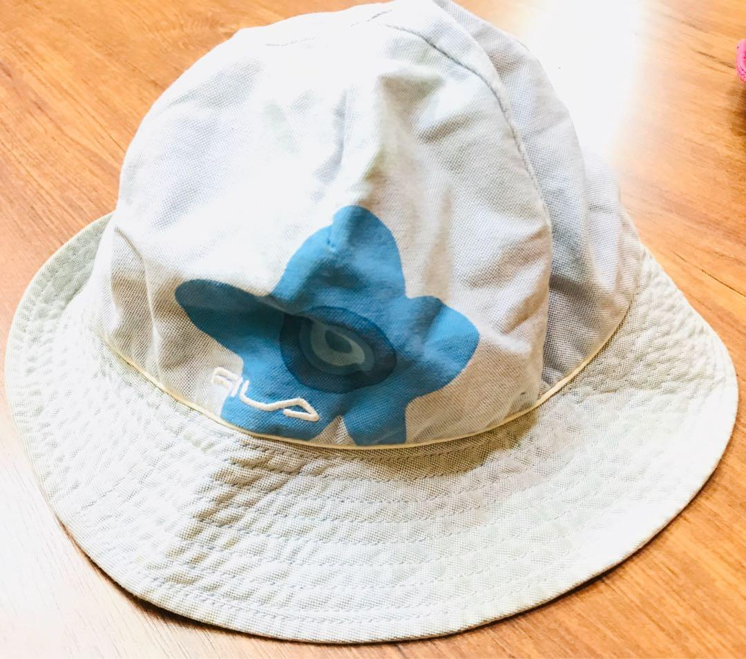Fila 粉藍色帽子/童帽/漁夫帽