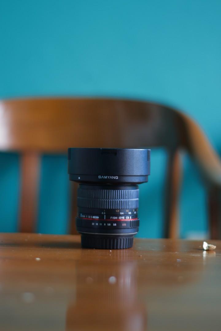 Lensa Samyang 8mm Fish Eye Cs II For Canon