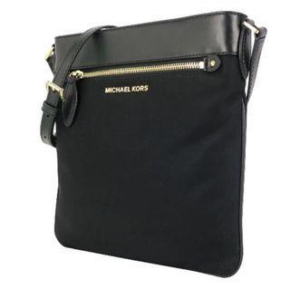 美國🇺🇸買的Michael Kors  Connie 黑色皮革尼龍斜背扁包
