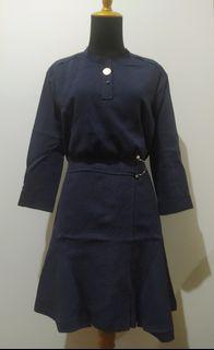 Navy Midi Dresses
