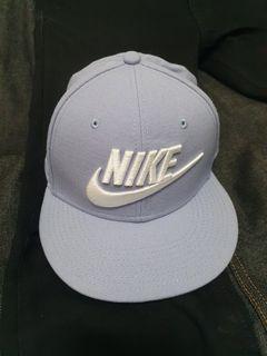 Nike 耐吉 平板帽 羊毛 粉藍