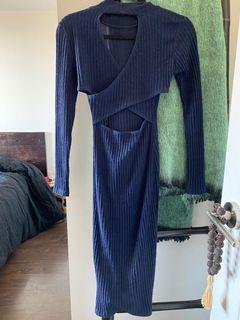 Reversible navy dress