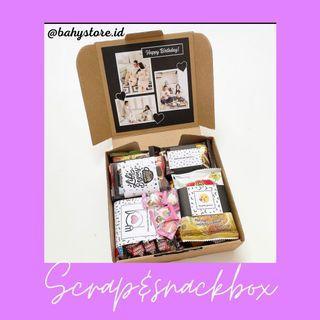 Scrap&snackbox unik, gemes, lucu, dan kekinian/ kerajinan tangan/DIY