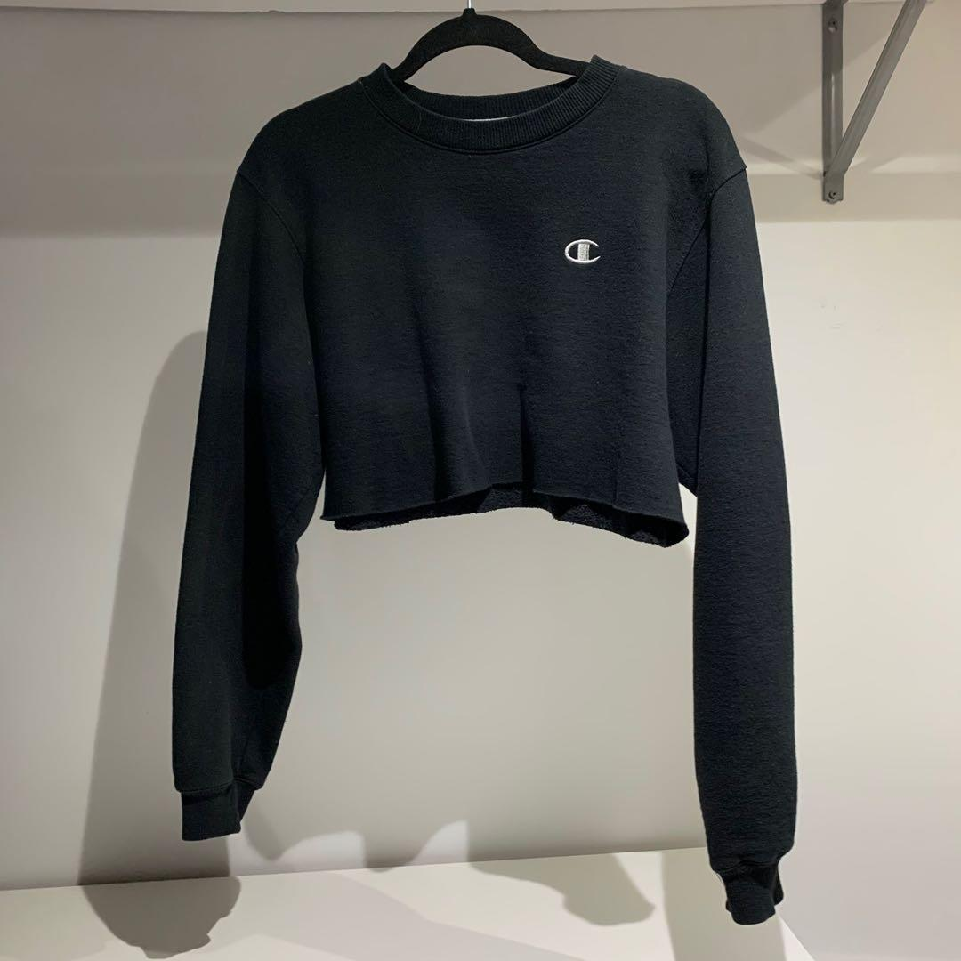 Vintage champion cropped sweater