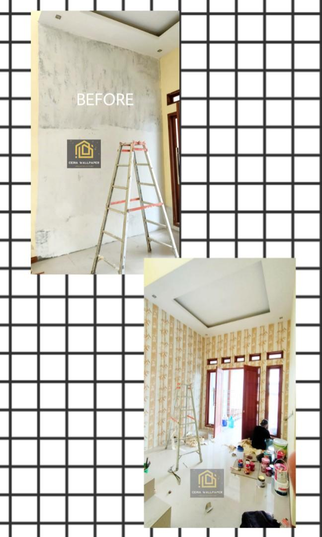 Wallpaper Dinding Timbul (VINYL PREMIUM IMPORT KOREA)