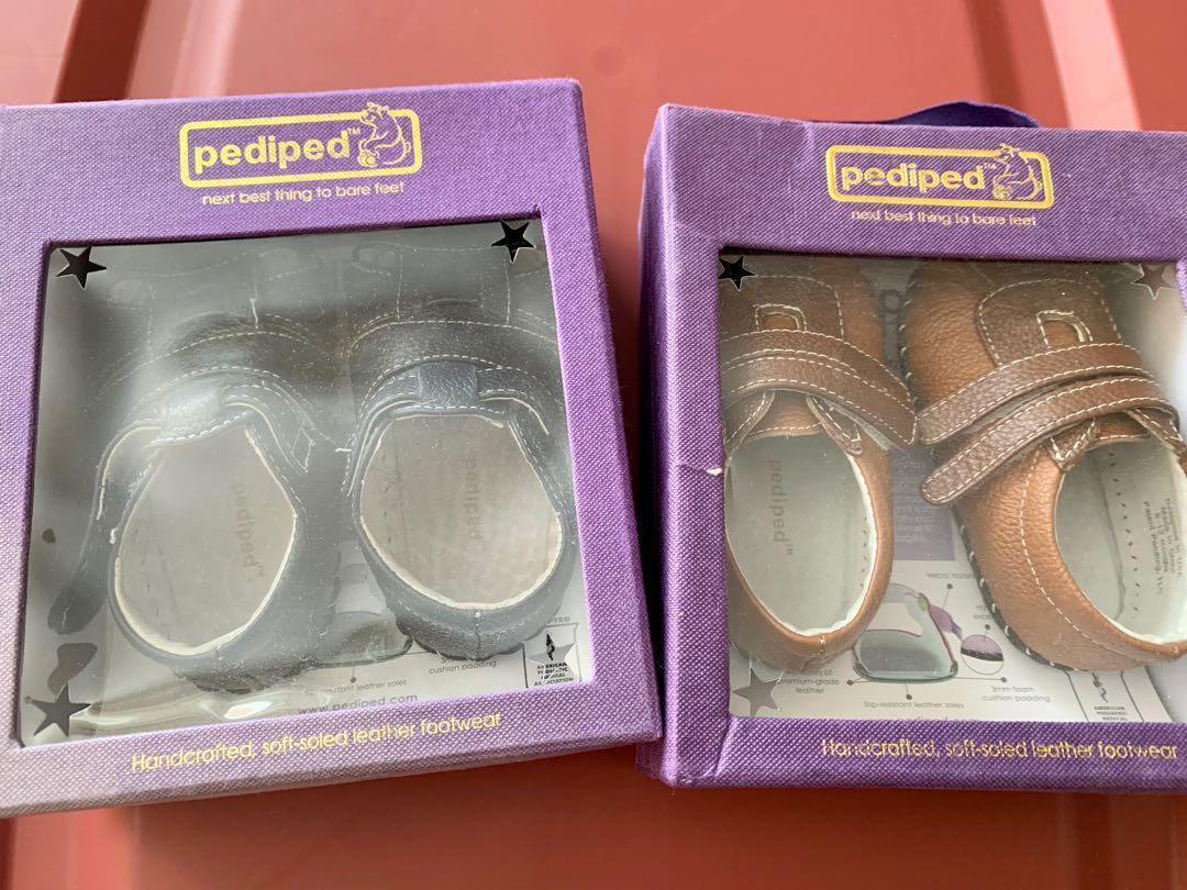 2 GUC pediped infant boys shoes & sandals sz 6-12m