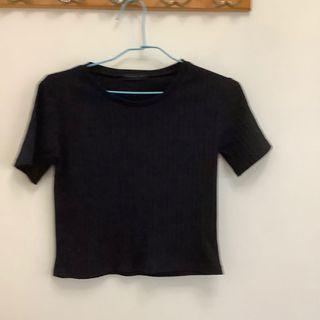 黑色針織短袖