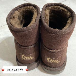 女 韓國正版Ollie雪靴 咖啡色 S號/22.5-23CM