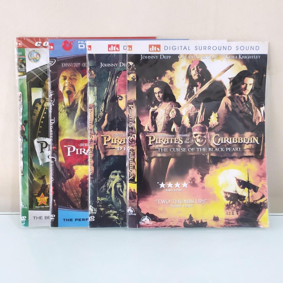 Dvd Film Pirates Of The Caribbean 1-4