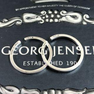 (🇩🇰丹麥製)㊣Georg Jensen 喬治傑生:絕版掛式耳環