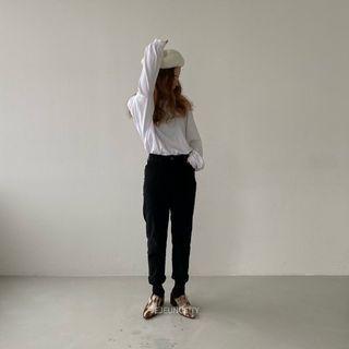 jeje高等級全彈性的刷絨燈芯絨AB褲版小窄褲 #神經病訓練班