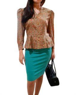 Korean vintage blouse asli jepang