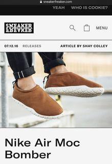 Nike Air Moc Bomber NSW 懶人鞋 超舒服