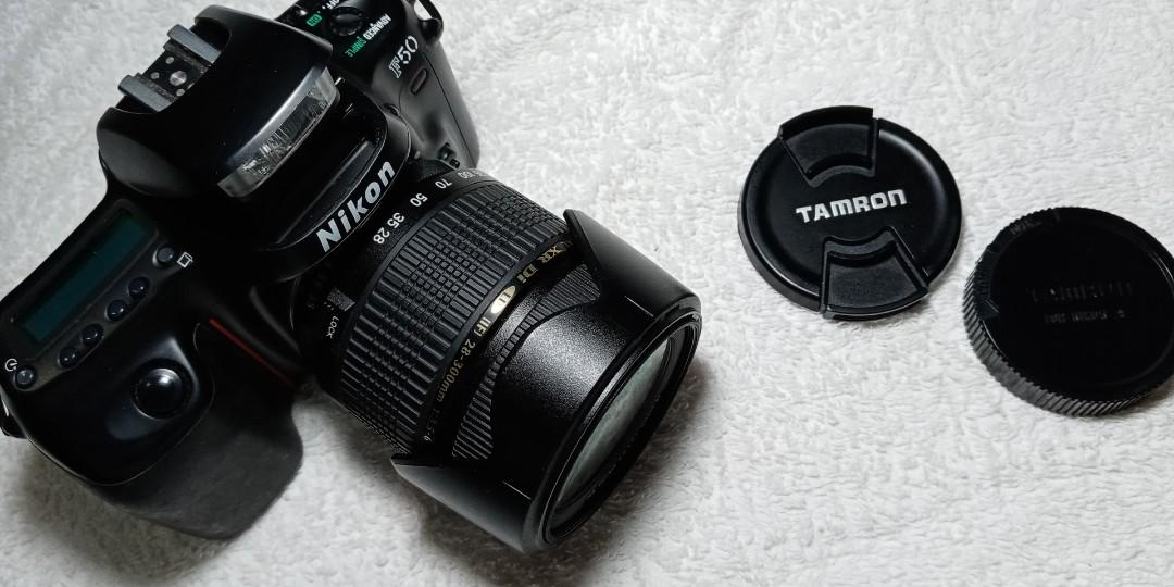 nikon f50 film camera with tamron lens 28-300mm used almost new