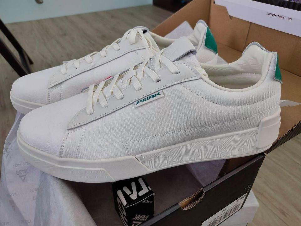 PEAK 匹克態極帆布小白鞋