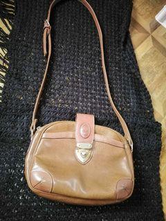 Pony Brown shoulder bag, leather