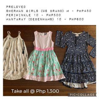 Preloved dresses for girls size 10
