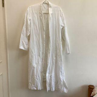 Uniqlo白色洋裝罩衫