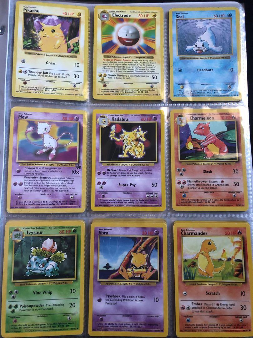 1999 baser set cards bundle