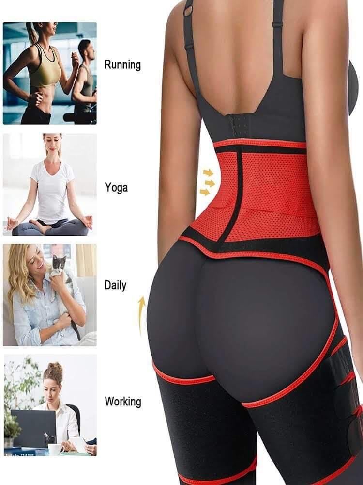 3in1 Sauna Waist Trainer with Phone Holder
