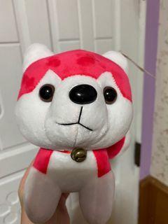 粉紅哈士奇娃娃