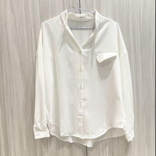 全新 女生白色襯衫 長袖襯衫