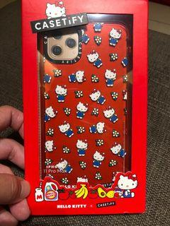 二手 Hello Kitty x CASETiFY 聯名 iPHONE 11 Pro Max 手機保護殼