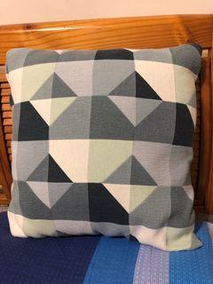 藍色拼接枕頭套 Ikea