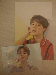 BTS 2020 SG Jimin postcard + army card