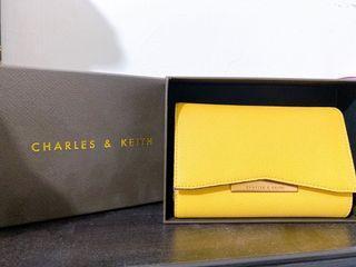 CHARLES & KEITH 折價 小CK 中夾 皮夾 經典款 全新 中長夾